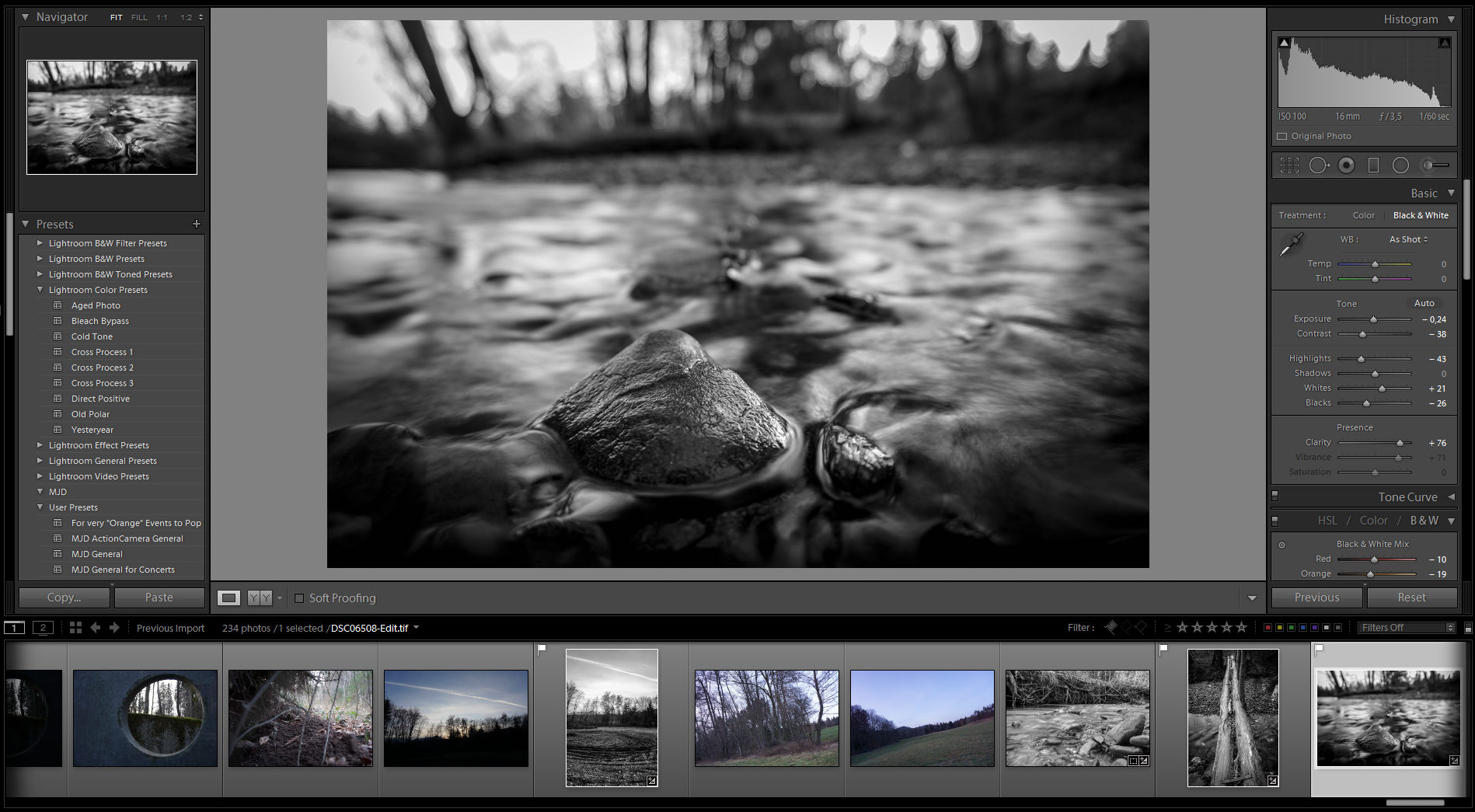 lightroom finish - Long exposures without an ND filter