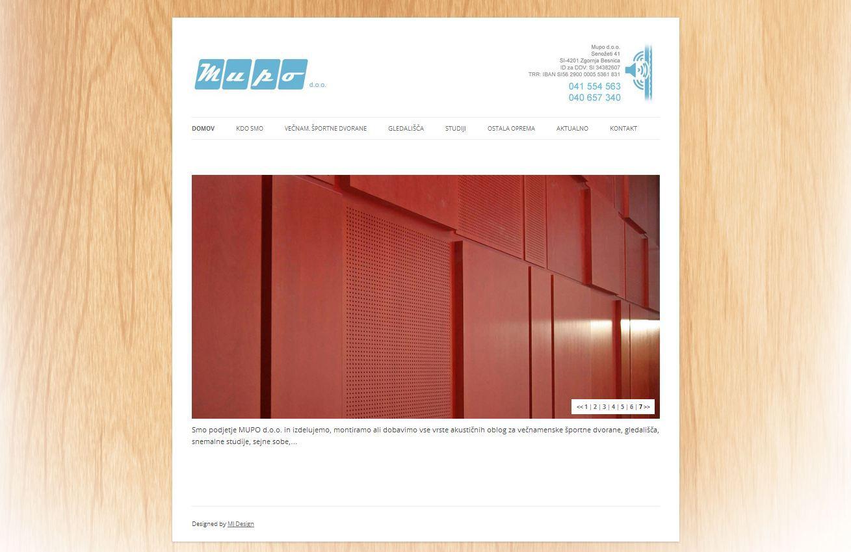 Spletna stran za Mupo d.o.o.