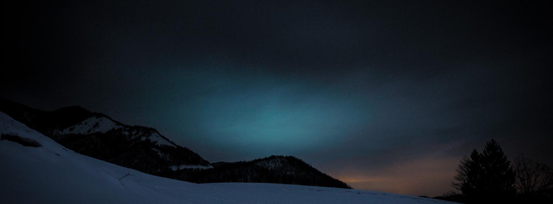 Moonlit white hills