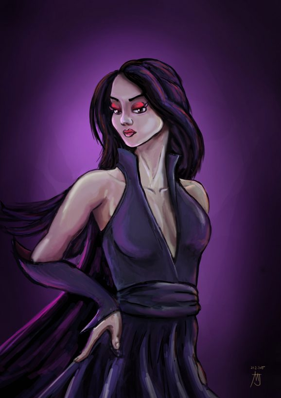 purple lady 578x819 - Latest drawings and sketches (Matic)