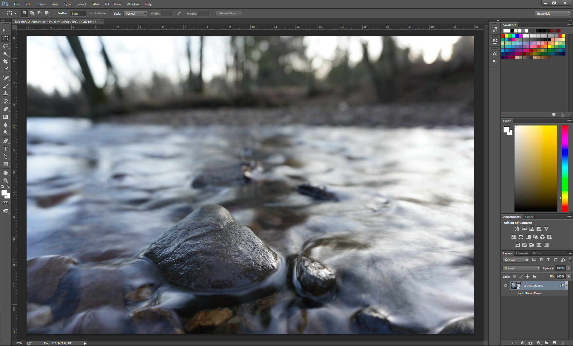 rendered - Long exposures without an ND filter