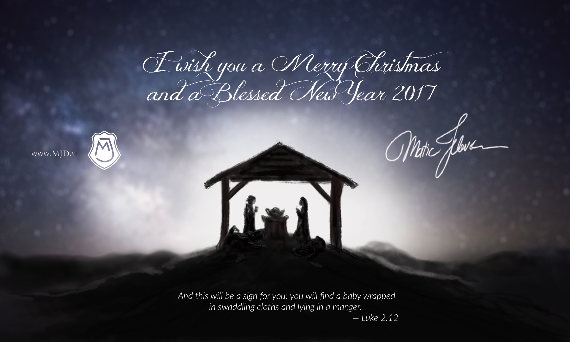 mjd Christmas EN - Merry Christmas and a Blessed New Year 2017