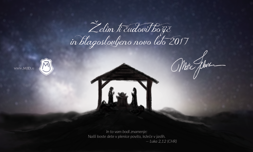 mjd Christmas SL - Merry Christmas and a Blessed New Year 2017