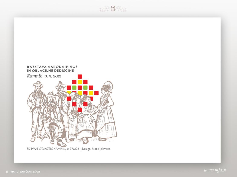 kuverta - Designing stamps, envelope and a seal
