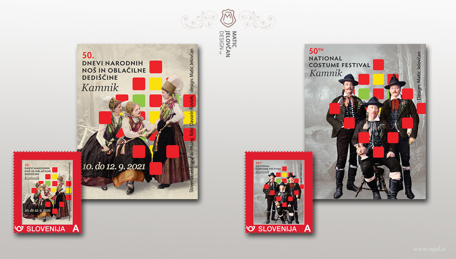 znamke - Designing stamps, envelope and a seal